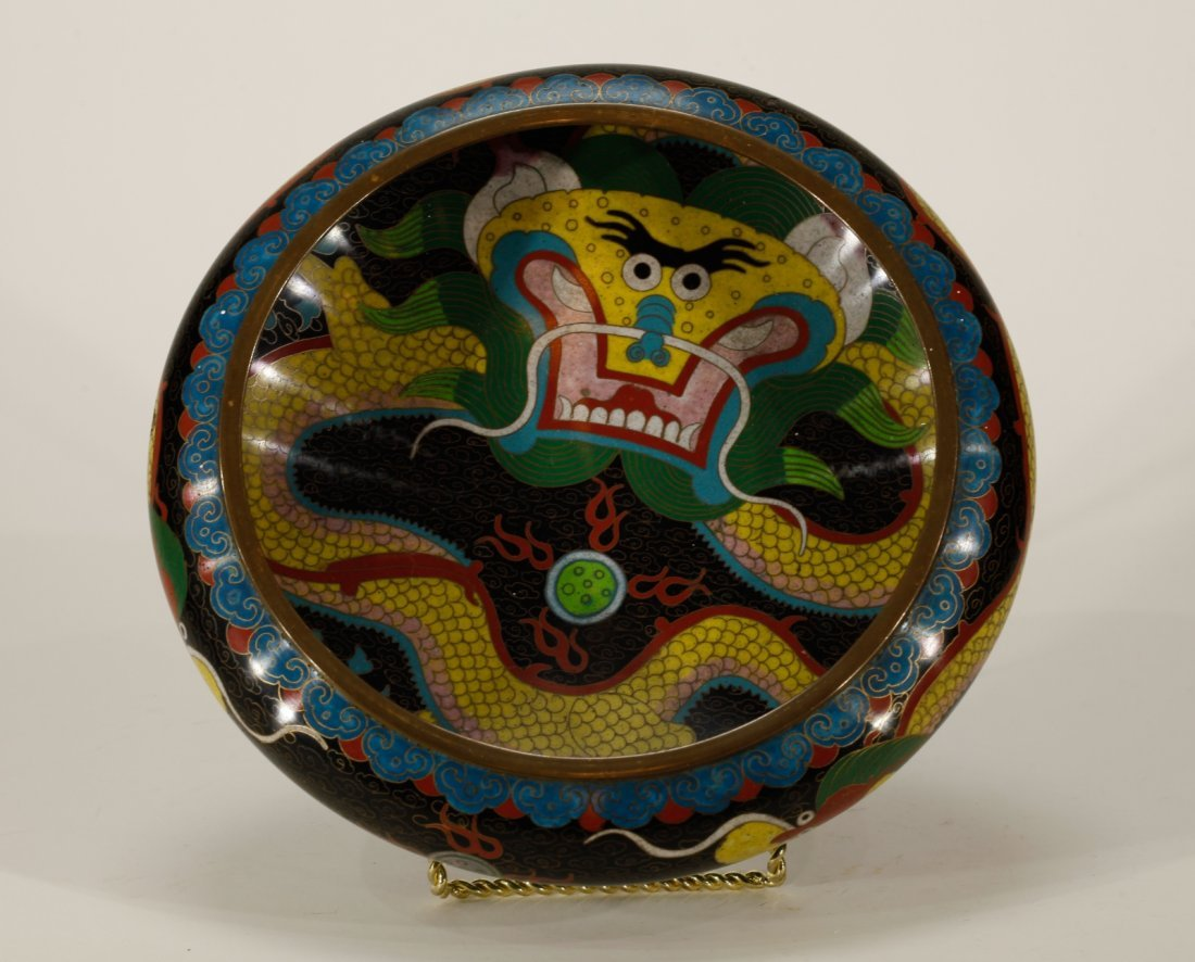 Chinese Cloisonne Brush Washer