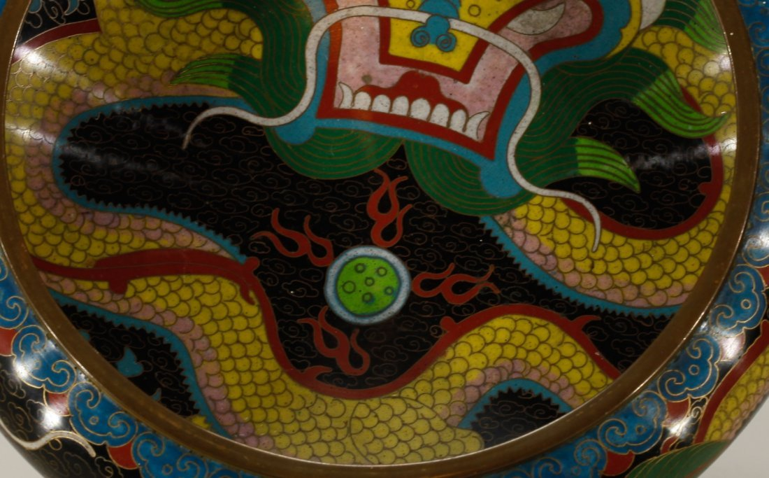 Chinese Cloisonne Brush Washer - 2