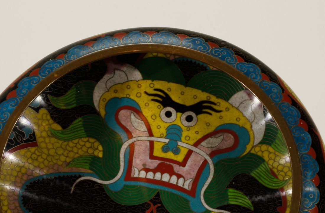 Chinese Cloisonne Brush Washer - 3