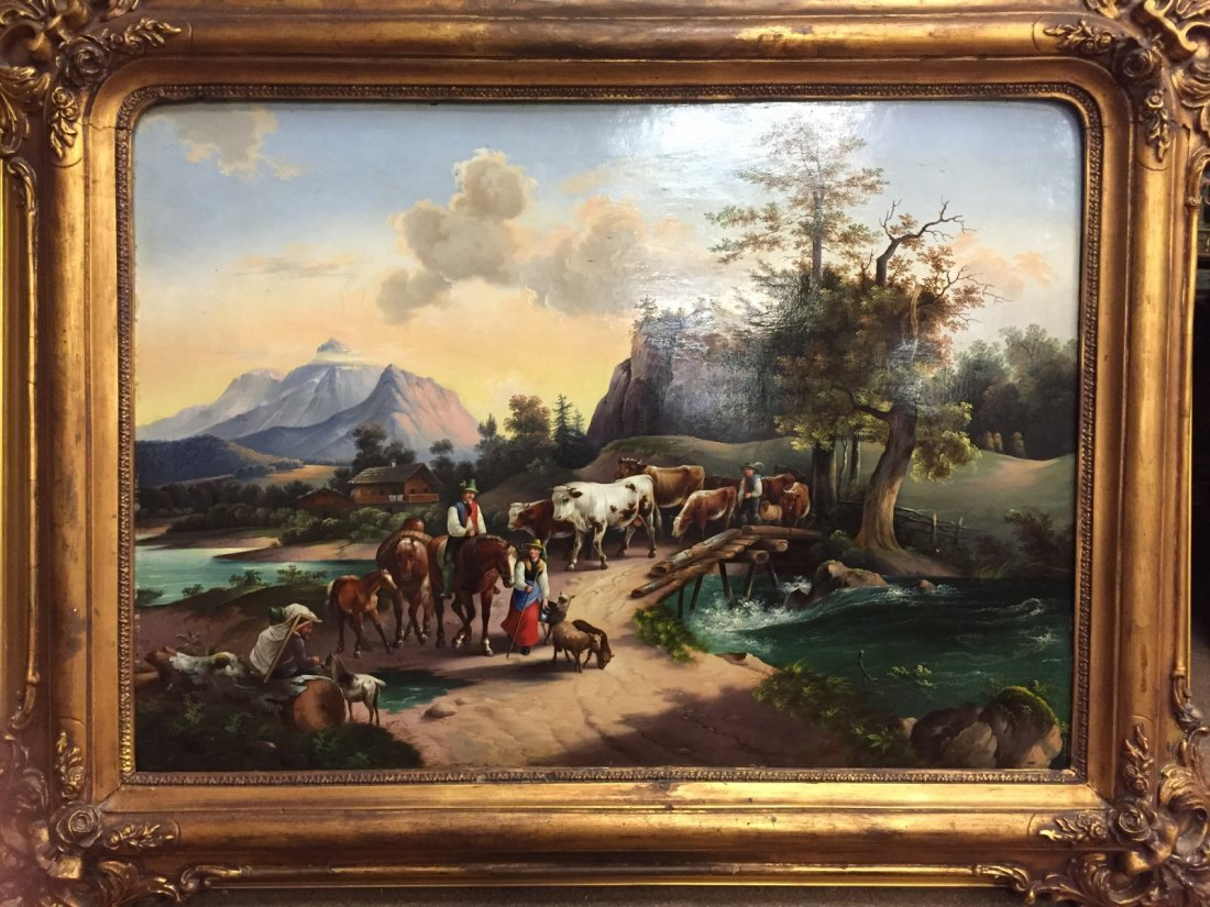19th C. European Painting on Copper