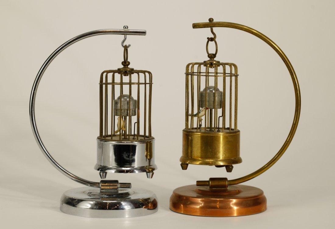 2 Possible European Metal Bird Cage Designed Clock