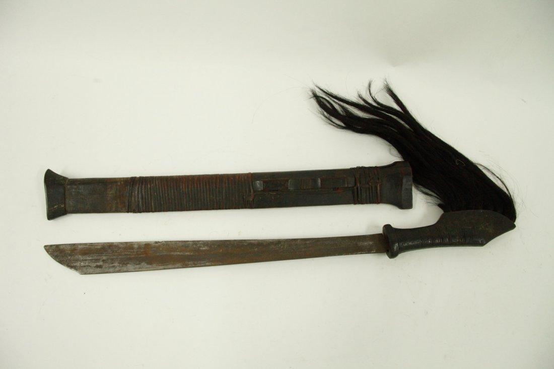 Early 19th C. Mandala Wood Handle Dagger