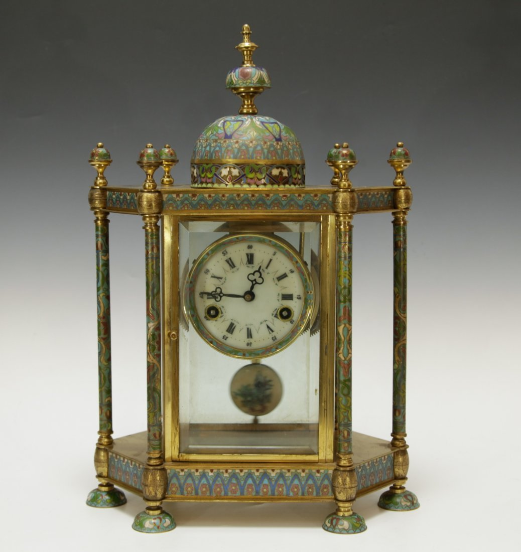Chinese Export Cloisonne Clock
