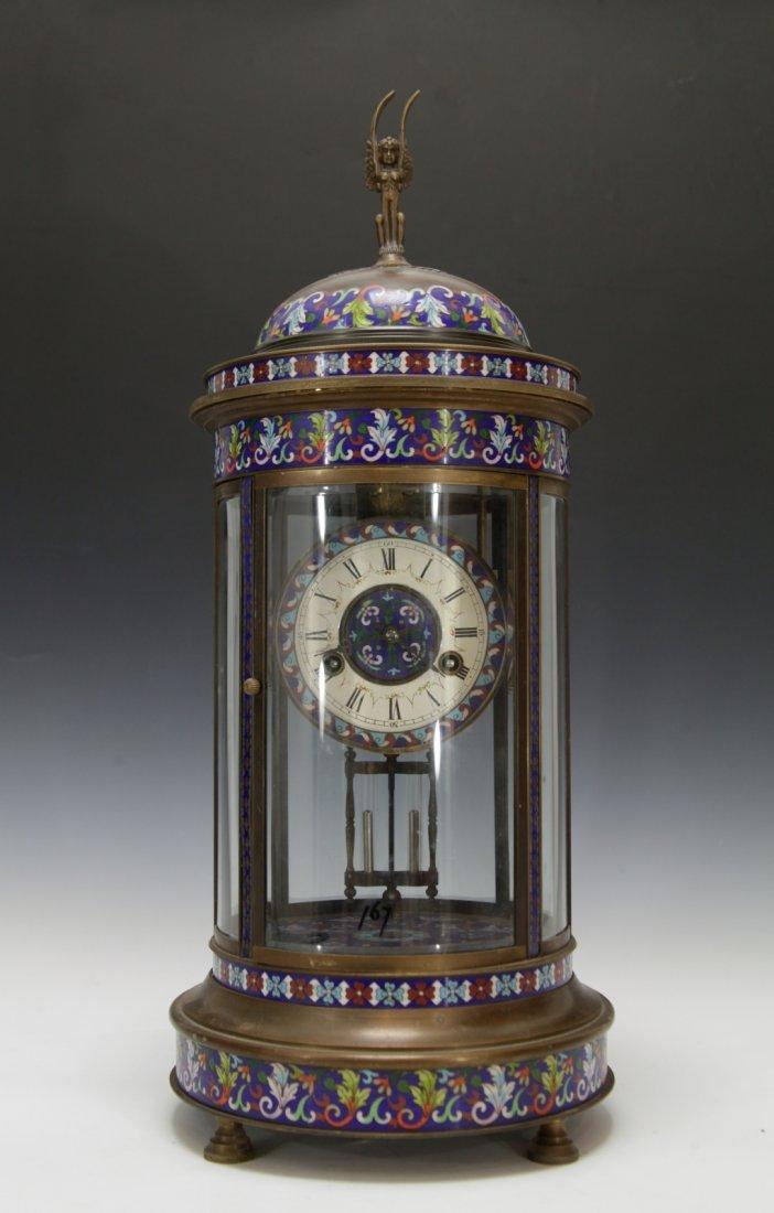 Chinese Enamel Bronze Clock, Republic Period