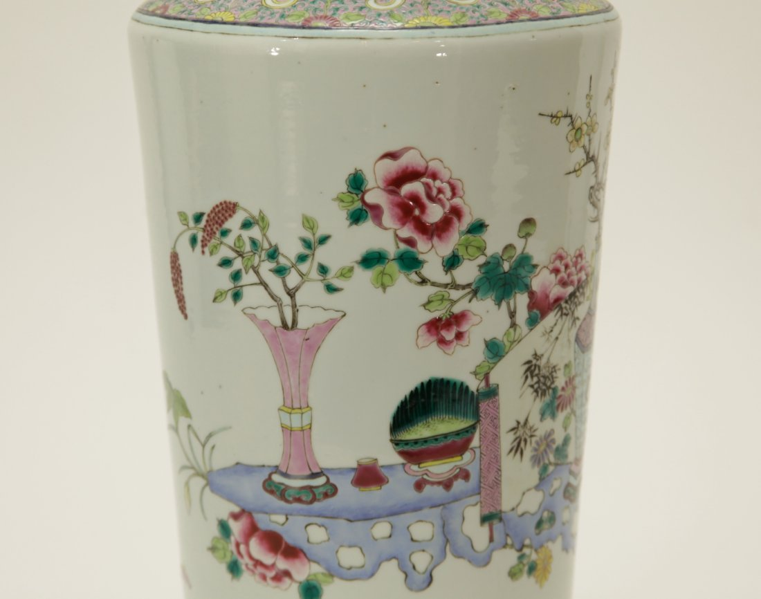 Qing Dynasty Chinese Famille Rose Vase, Marked - 3