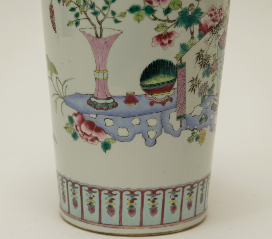 Qing Dynasty Chinese Famille Rose Vase, Marked - 4