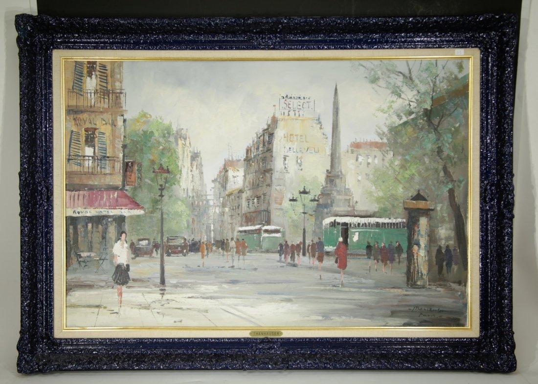 "French School Artist. ""J.Thanhouser"" Mid-Centry"