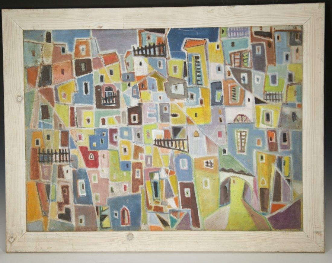 """""""Menacher Helholz-OR"""" Israeli Artist Painting Oil"""