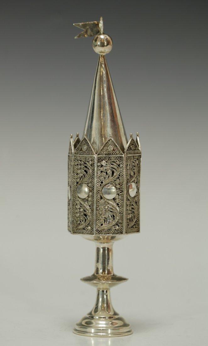 A Silver Spice Tower Poland, Circa 1820