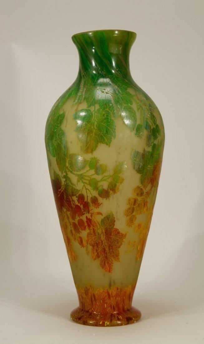 """Art Glass Vase, Signed """"Daumnancy"""""""