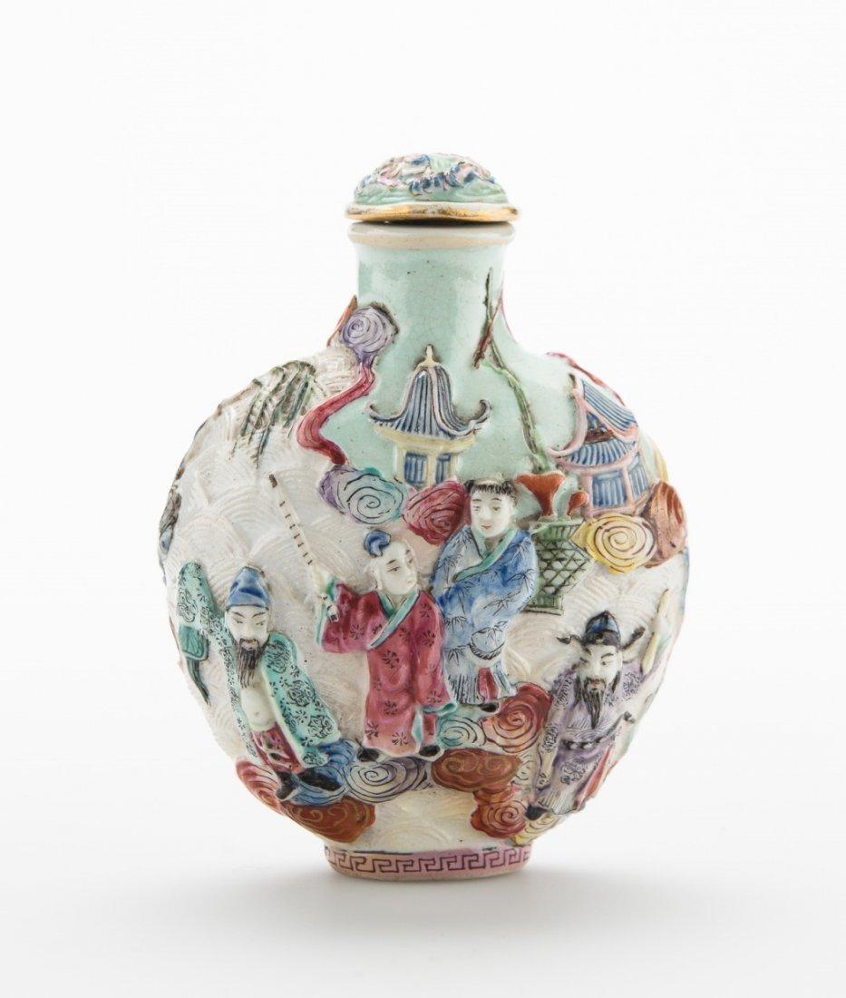 A Porcelain Enameled Snuff Bottle