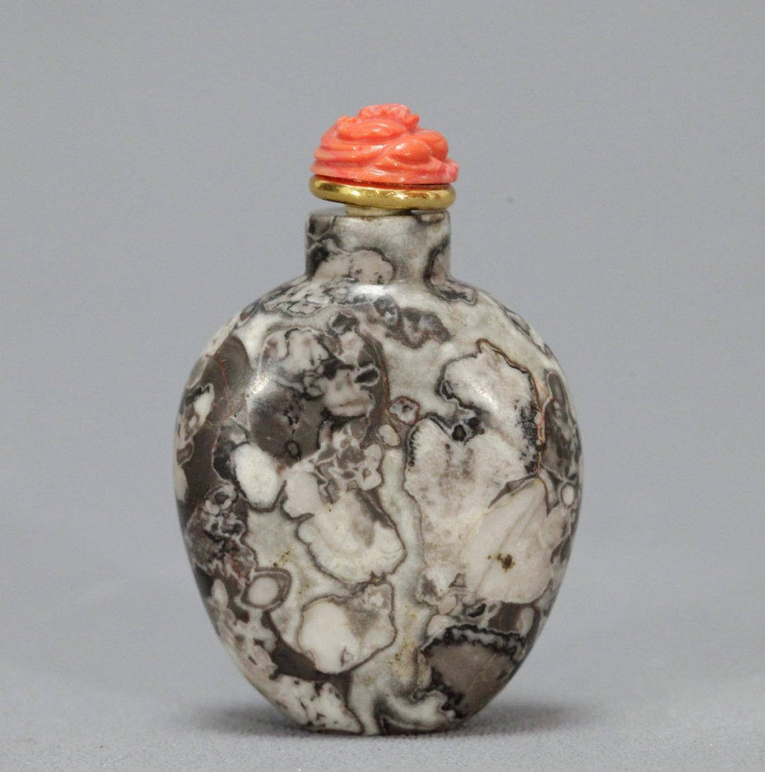 A Plain PuddingStone Bottle