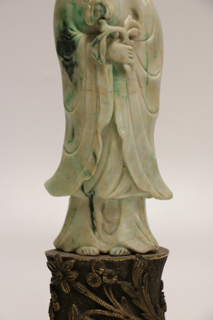 19/20th C. Chinese Jadeite Carving Lamp - 3