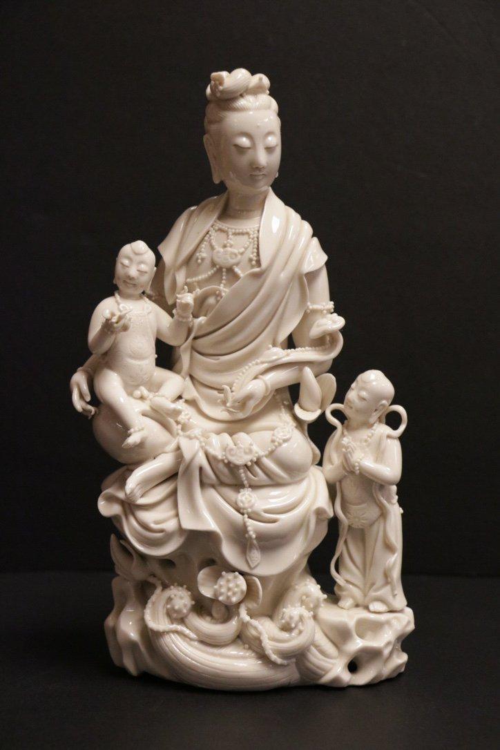 Chinese 18/19th C. Blanc de Chine Guanyin