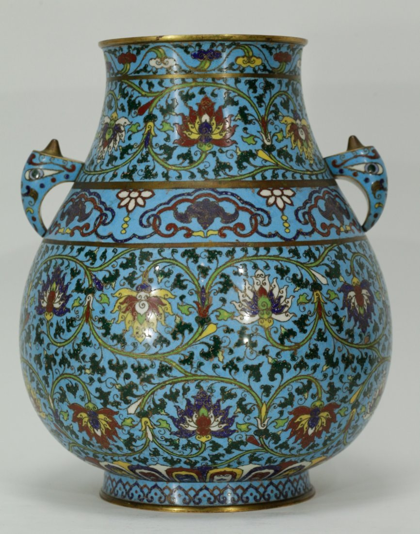 18th C. Chinese Cloisonne Vase From Christie's