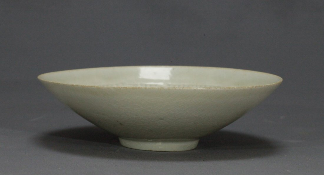 Carved Boy and Flower Pattern Ying Qing Bowl - 2