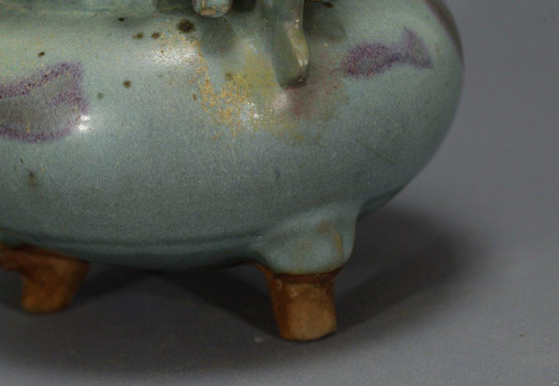 A Large Jun Glazed Incense Burner - 5