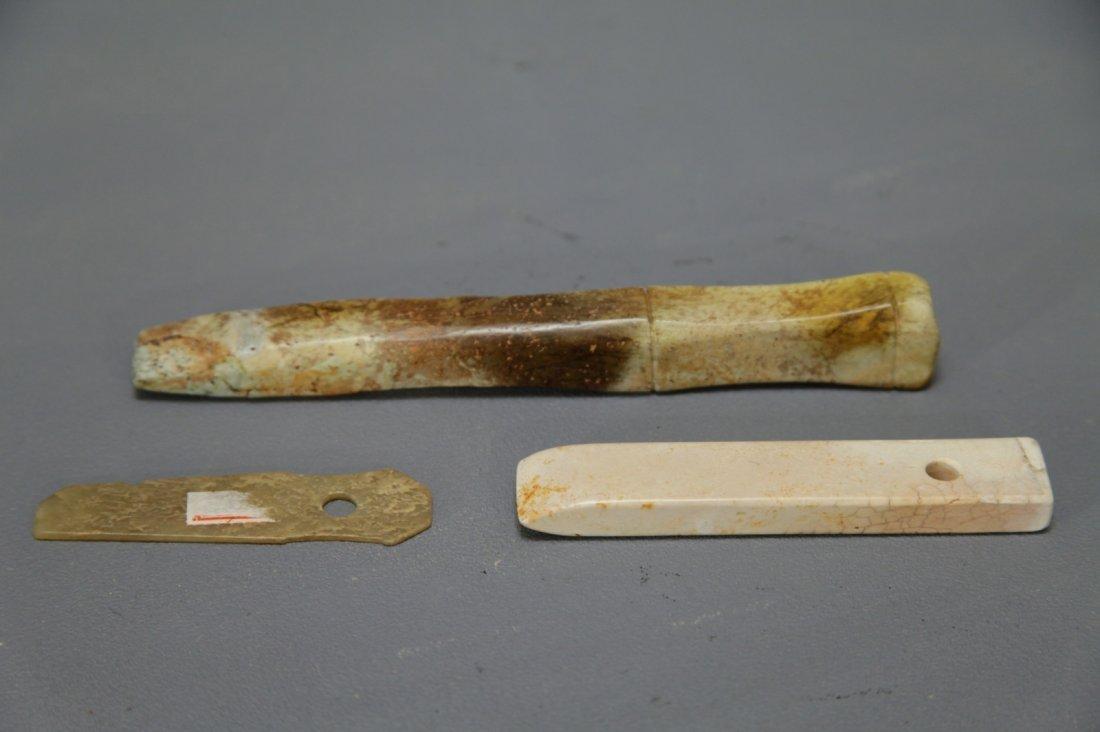 Three Archaic Jade Handles