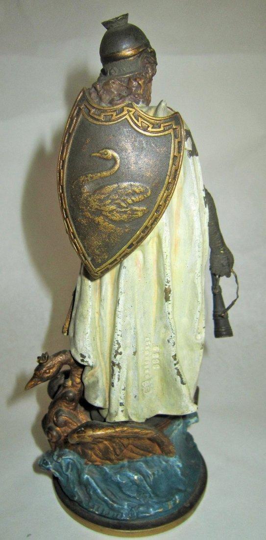 Austrian Bronze Figure of Lohengrin by Bergman - 4