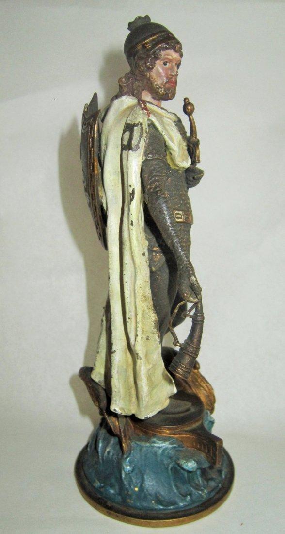 Austrian Bronze Figure of Lohengrin by Bergman - 5