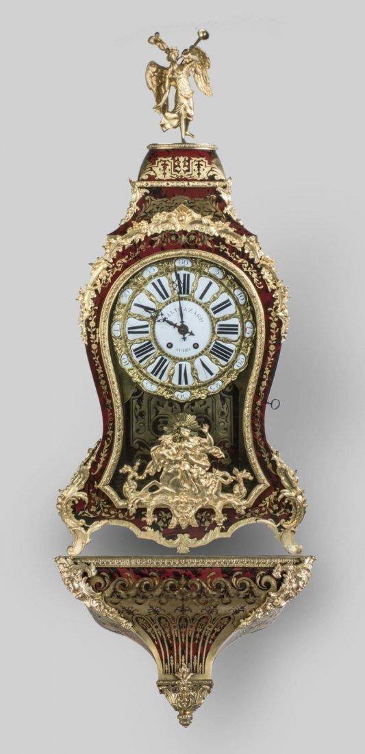 19C Monumental Antique Boulle Clock Baltazar