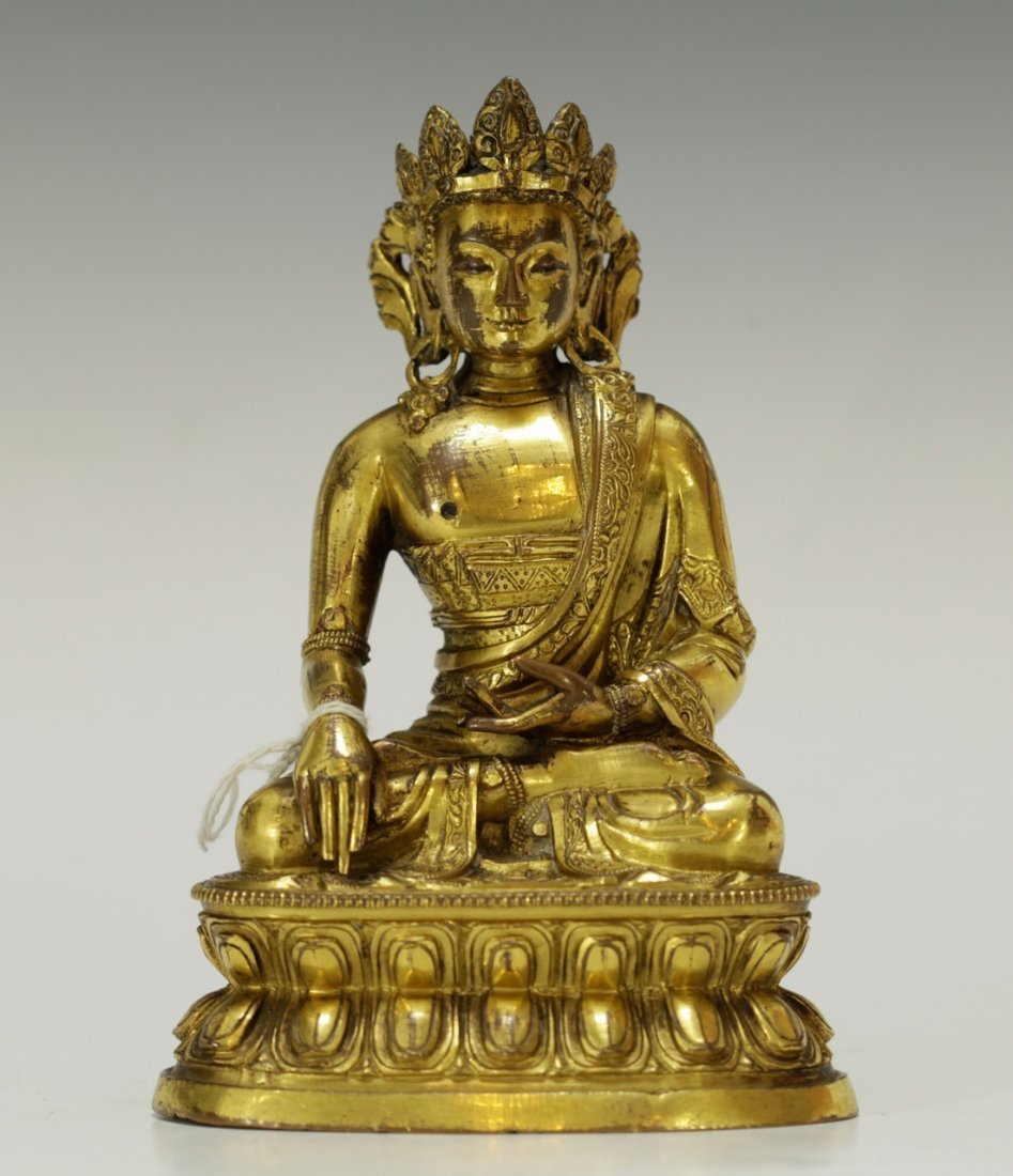 18th C. Chinese Bronze Buddha, From Sotheby's