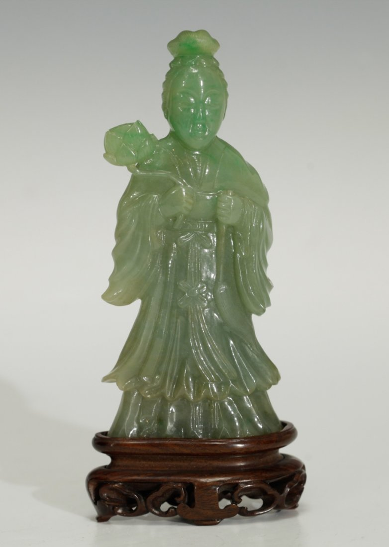 Top Quality 19th C. Chinese Fine Carved Guanyin