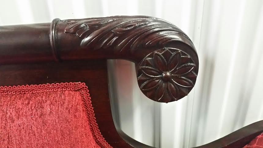 19C Empire mahogany sofa - 3