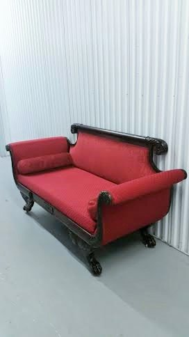 19C Empire mahogany sofa - 5