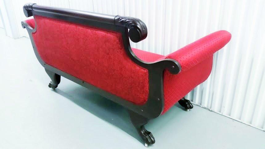 19C Empire mahogany sofa - 6