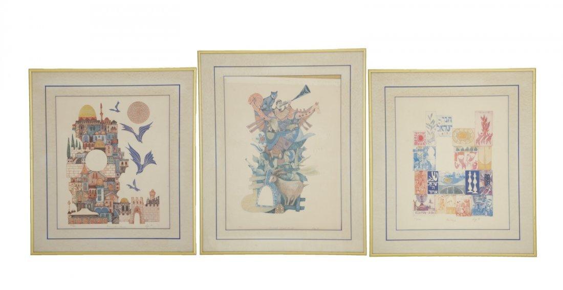 3 Pieces of Judaica Paintings