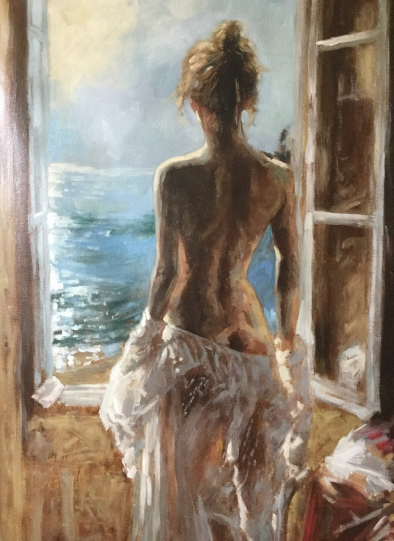 Oil Painting on Canvas , Nude Girl