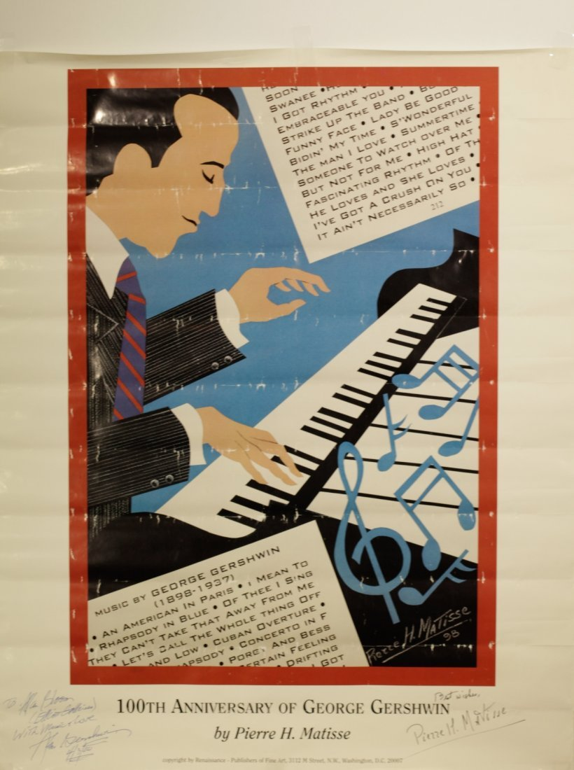 100th Anniversary of George Gershwin Lithograph