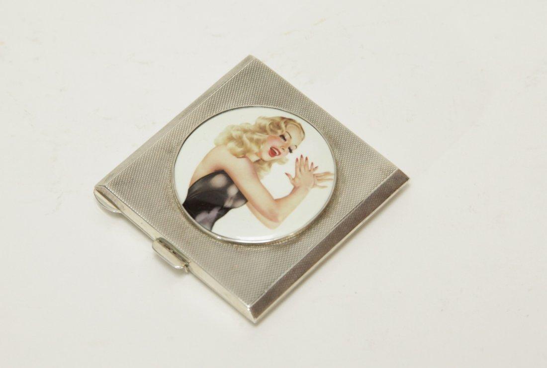 European Silver Makeup Box, w/ Mark
