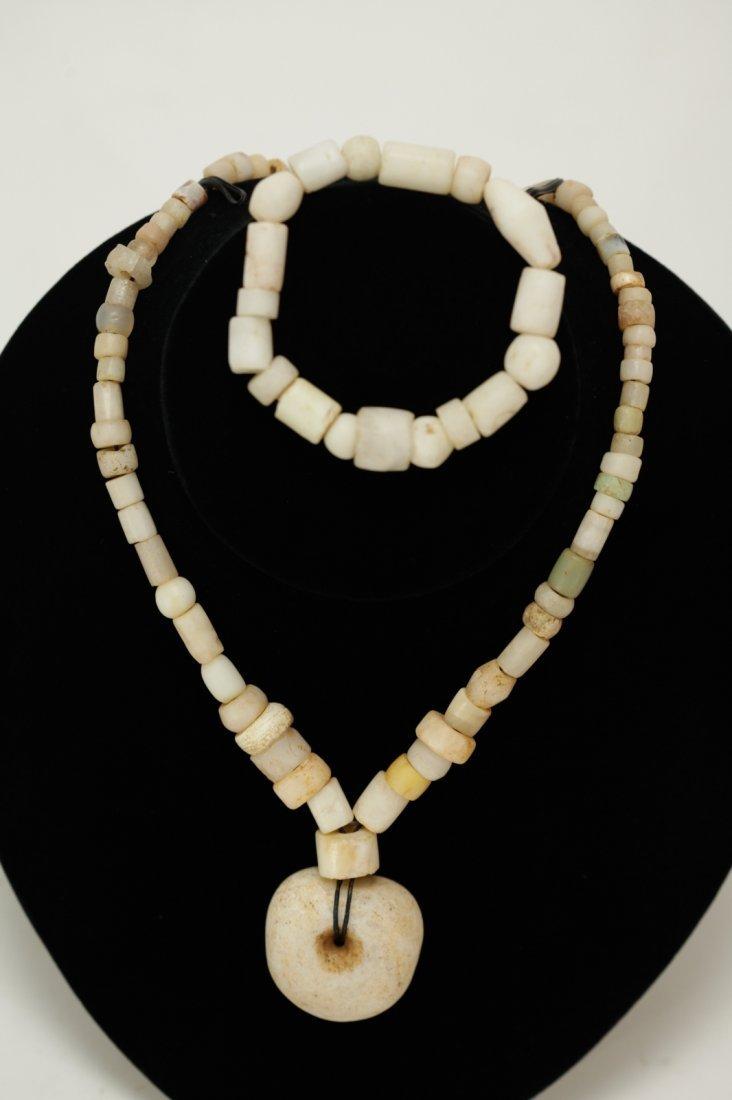 A Set of Necklace & Bracelet of Ancient Crystal