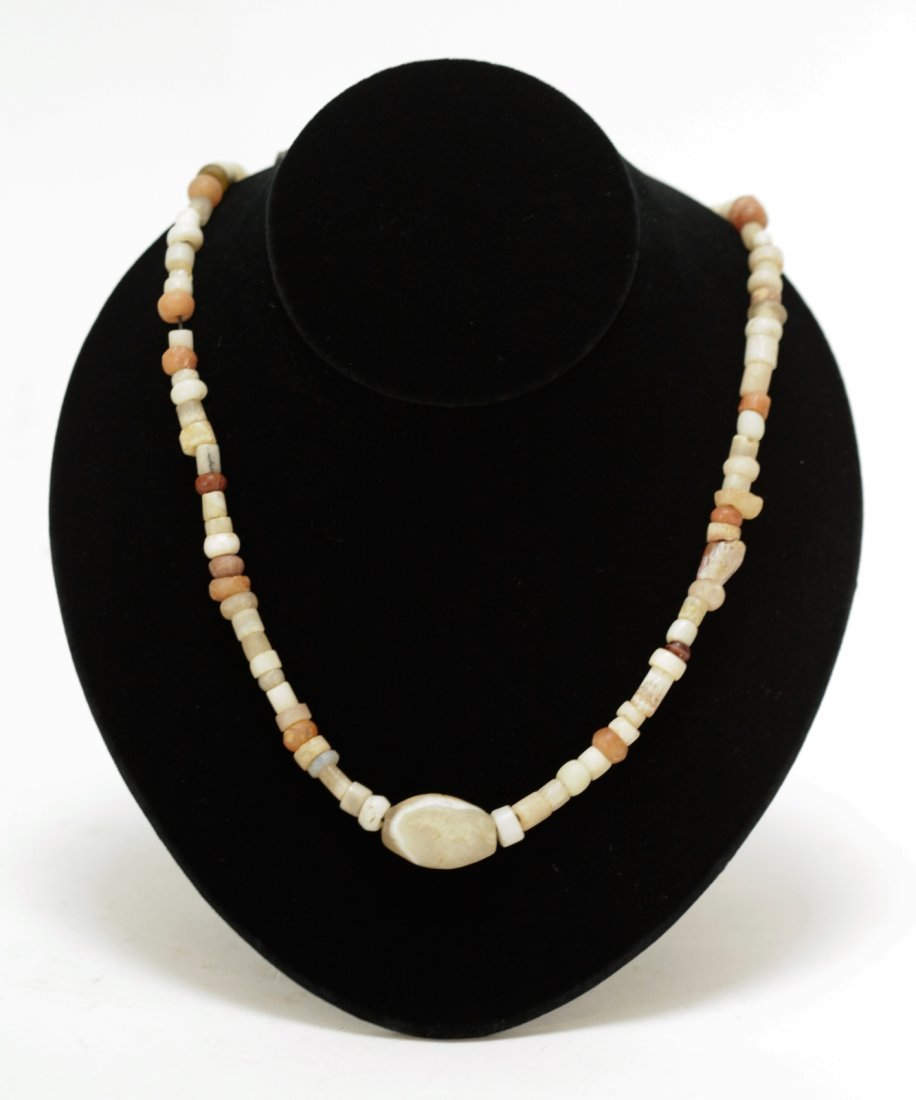 Ancient Mixed Agate, Crystal,Quartz Bead Necklace