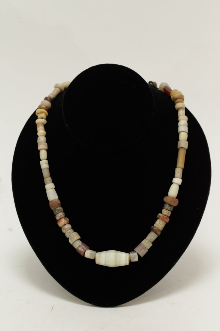 Ancient Mixed Agate,Crystal & Quartz Bead Necklace
