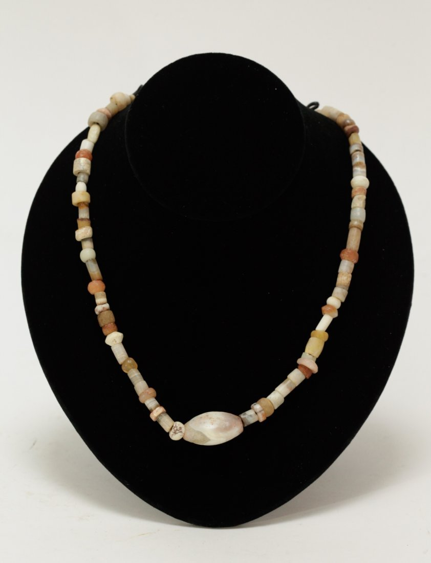 Ancient Mixed Agate, Crystal, and Quartz Necklace