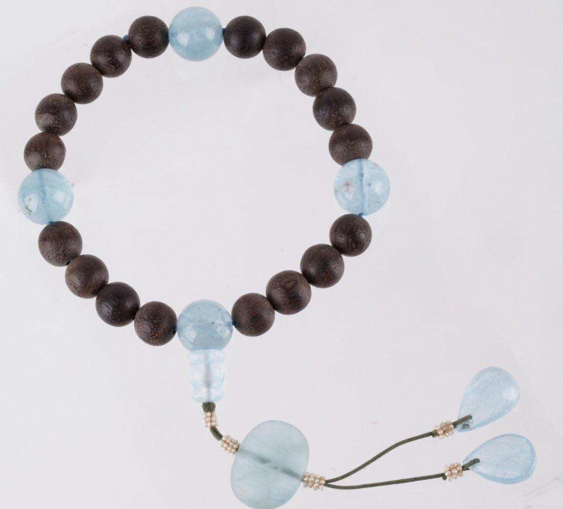 Chinese Cheng Xiang Wood Prayer Beads