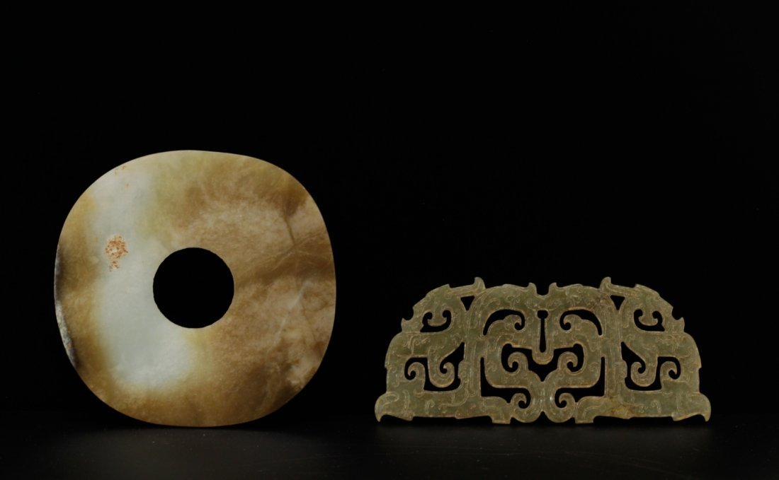 2 Pieces of Chinese Jade Carvings