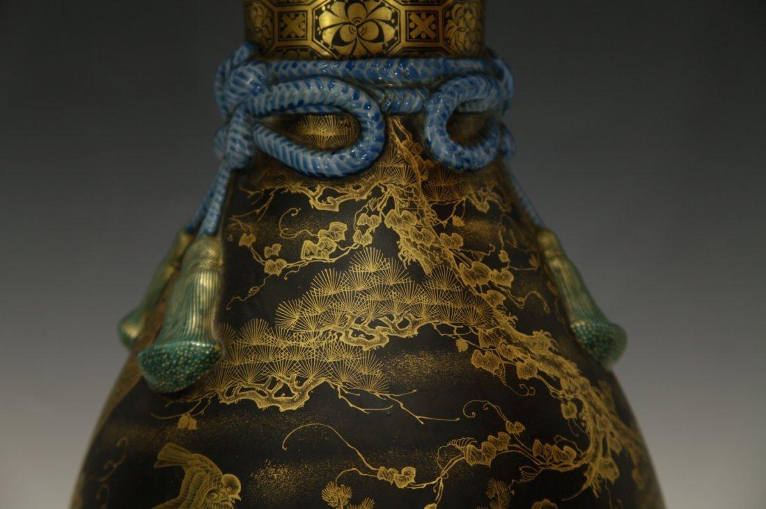 Japanese Porcelain Vase, 19th C., Marked - 3