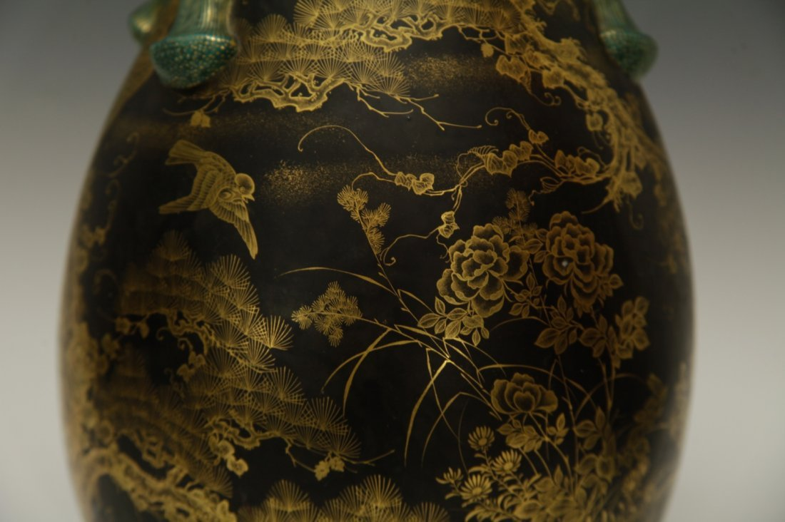 Japanese Porcelain Vase, 19th C., Marked - 4