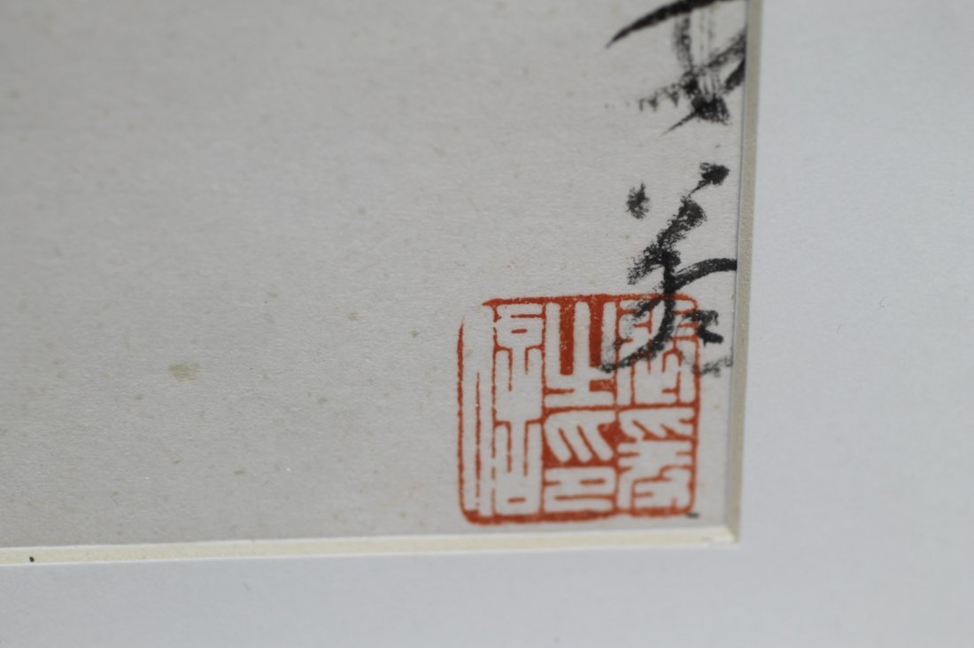 Chinese Ink Painting on Paper with Frame - 4