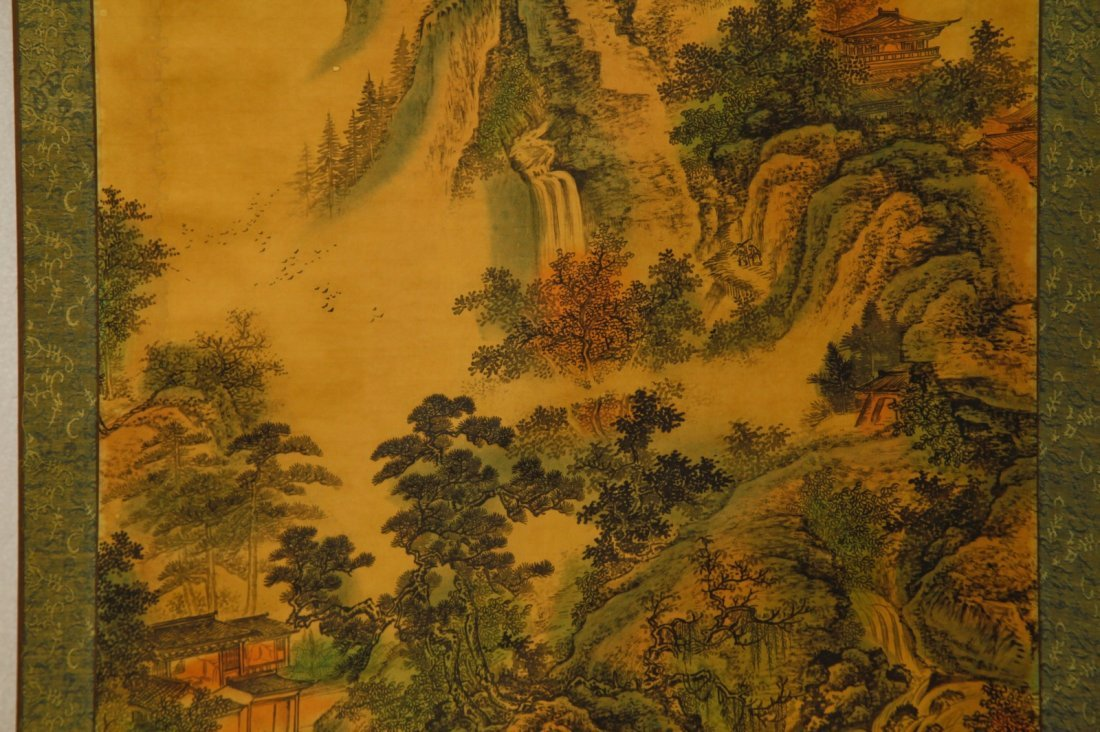 Chinese Watercolor Painting of Landscape w/ Mark - 4