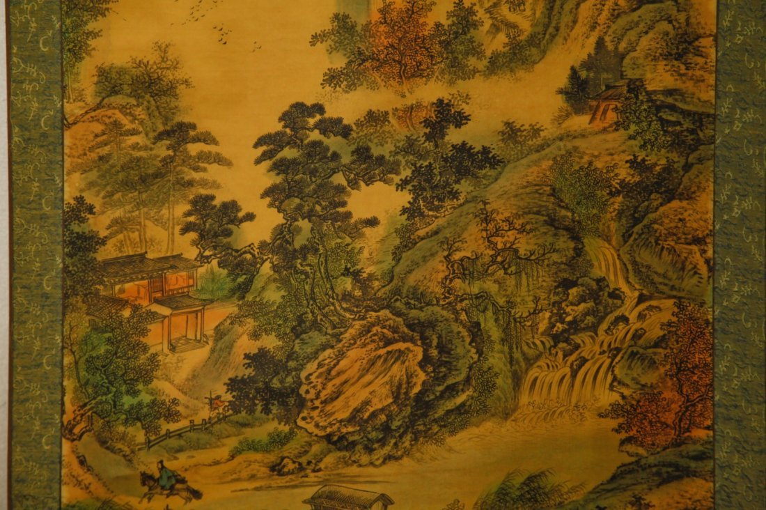 Chinese Watercolor Painting of Landscape w/ Mark - 5