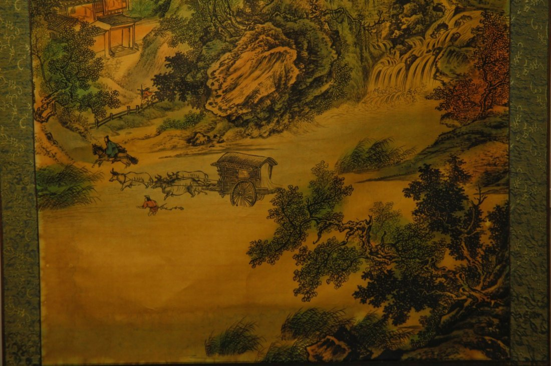 Chinese Watercolor Painting of Landscape w/ Mark - 6