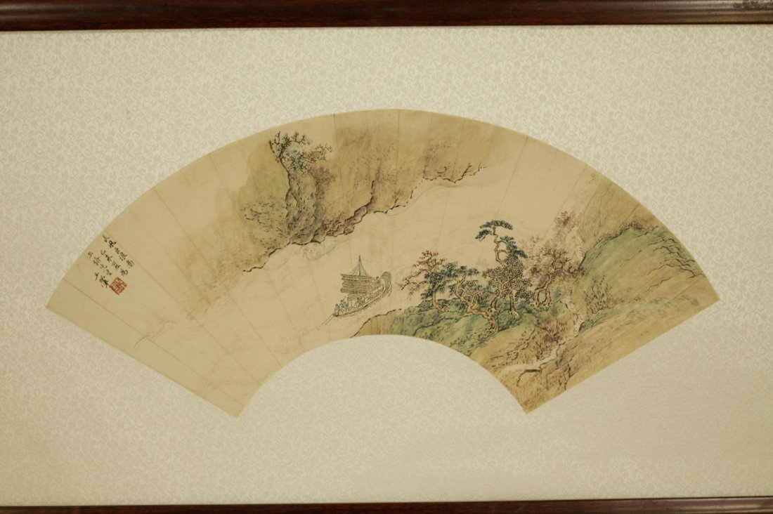 Chinese Painting of Fan, Marked - 2