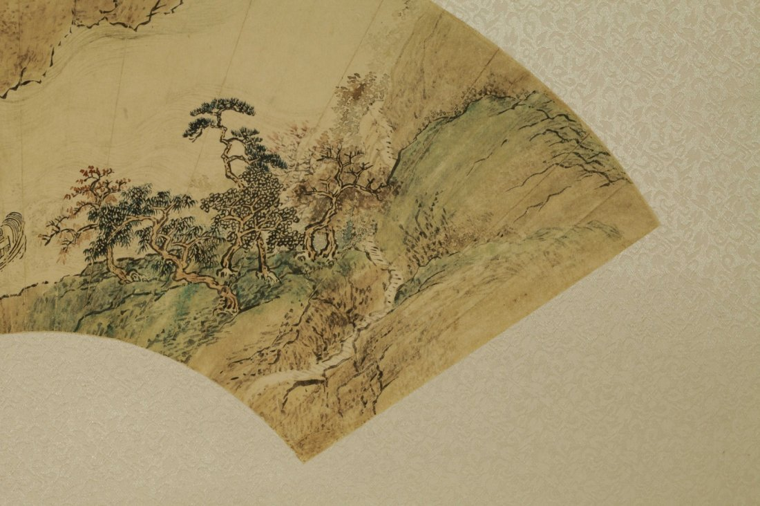 Chinese Painting of Fan, Marked - 3
