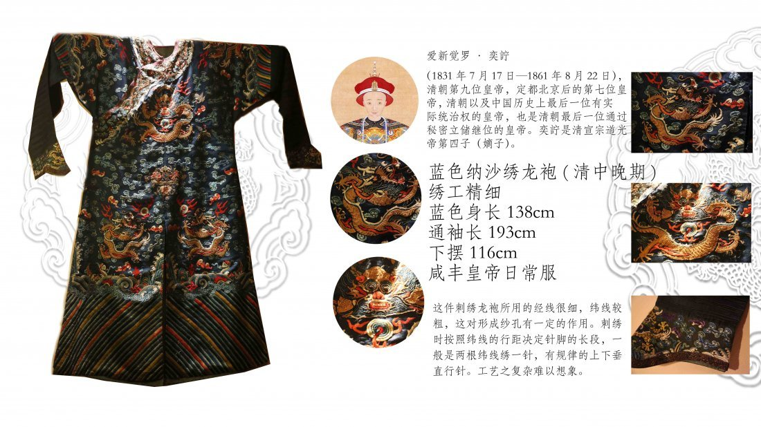 Late Qing Dynasty Chinese Emperor Embroidery Robe
