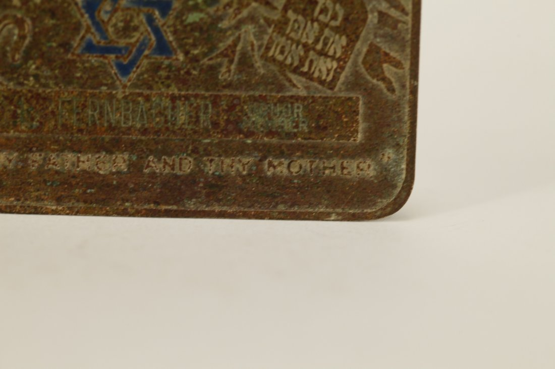 A Metal Plaque of Hebrew Sheltering Home - 6